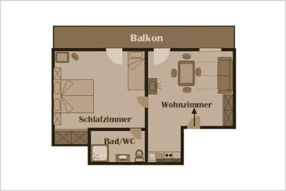 Grundriss Königslehen - Ferienwohnung in Radstadt, Ferienhof Nasnergut