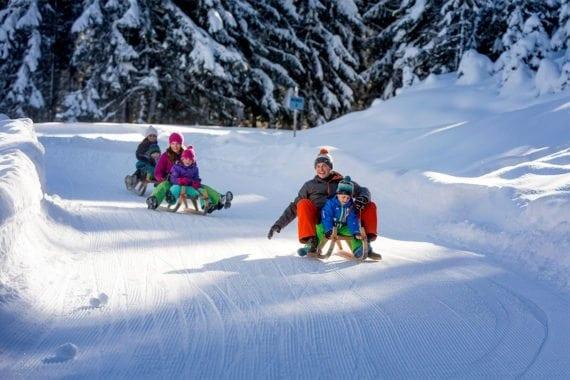 Rodeln - Winterurlaub in Radstadt, Salzburger Land